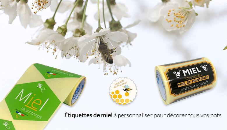 Etiquette labelpix miel