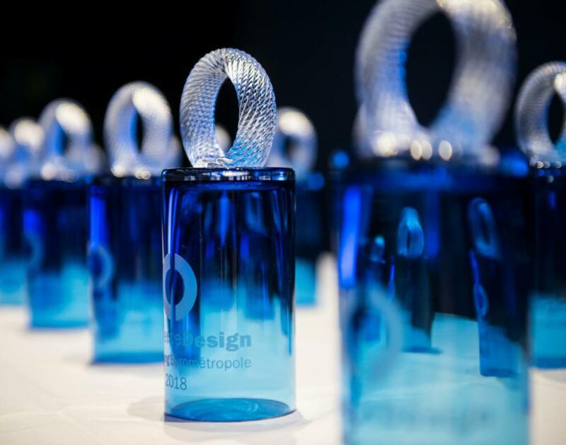 Trophée concours Commerce Design Lausanne Eurométropole